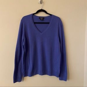 Lord & Taylor Cashmere Periwinkle Sweater